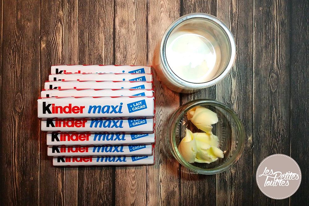 Cette ganache Kinder Maxi est un véritable délice pour créer pour réaliser un layer cake ou tout simplement pour glacer un cupcake ! A consommer sans modération et ça nous replonge dans les goûters d'enfance !