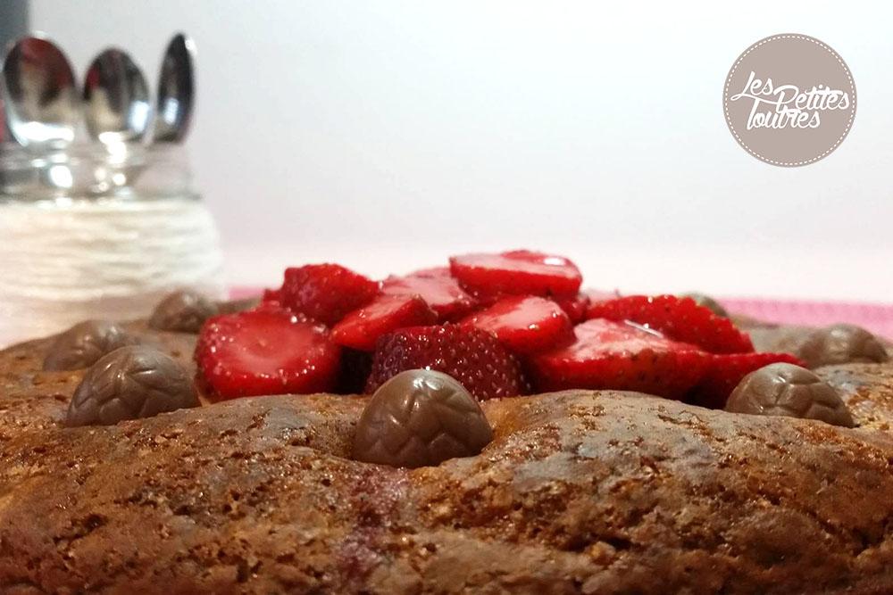 recette g teau au yaourt et aux fraises sans oeuf. Black Bedroom Furniture Sets. Home Design Ideas
