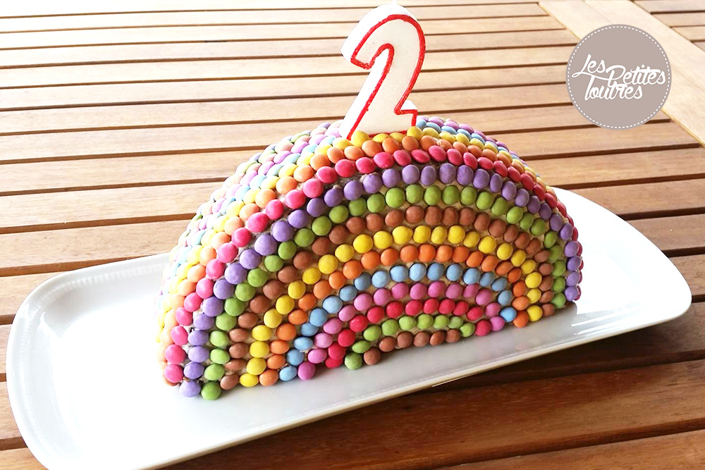 gâteau d'anniversaire arc en ciel {dessert} - les petites loutres