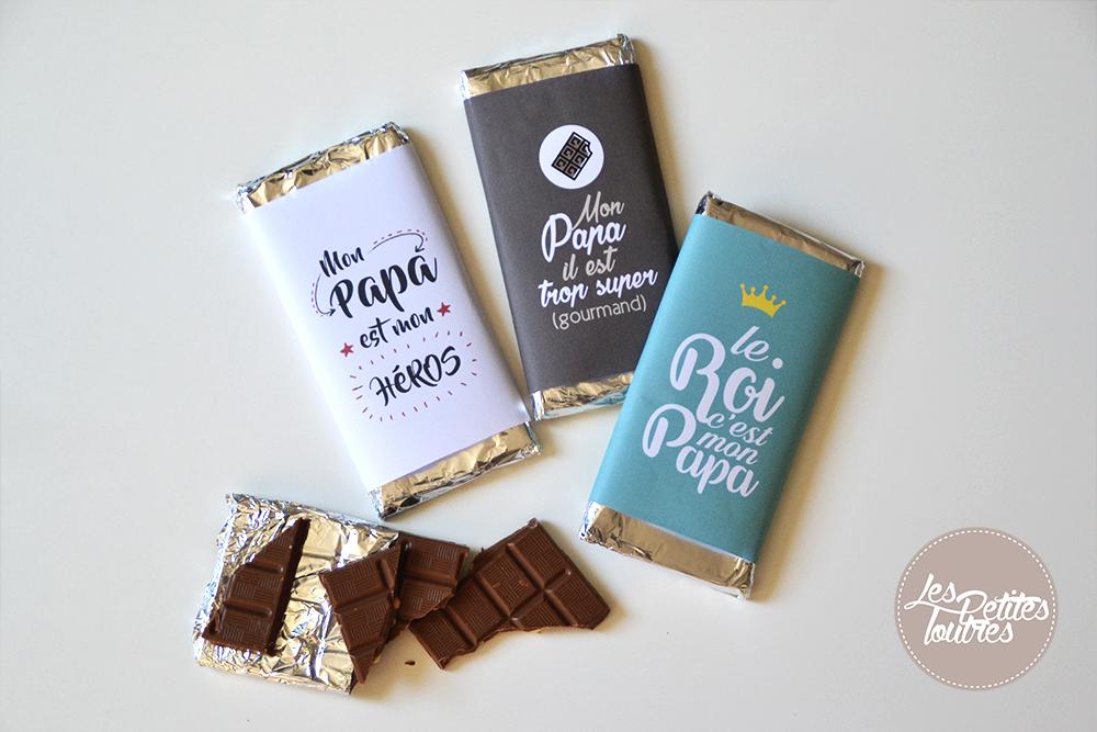 Favorit Des tablettes en chocolat pour papa - Free printable TV42