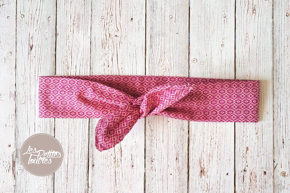 remise spéciale de chaussure remise chaude Tuto de couture pour réaliser un bandeau avec noeud en tissu