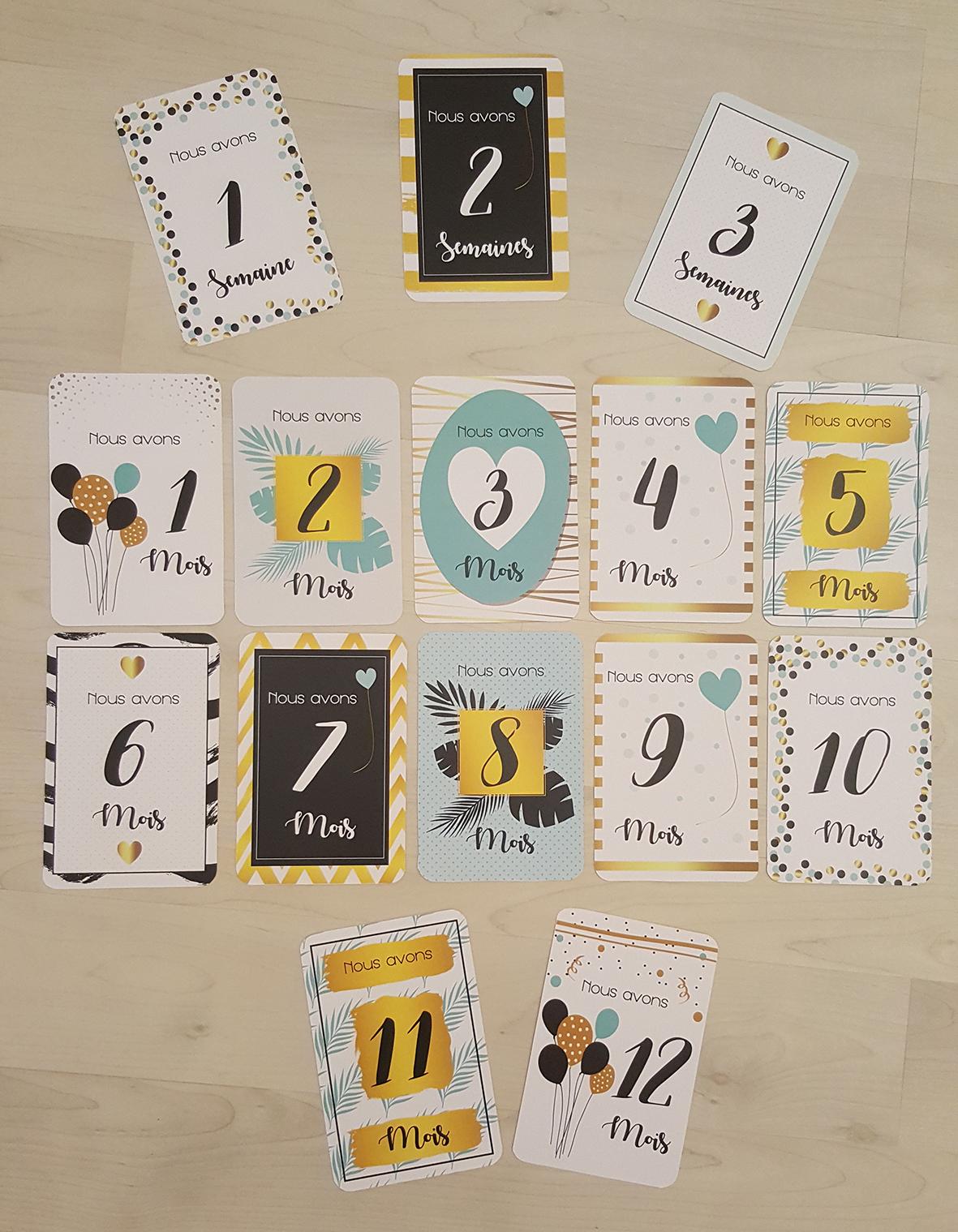 carte etape bebe a imprimer gratuit Cartes étapes Free printable   Les Petites Loutres